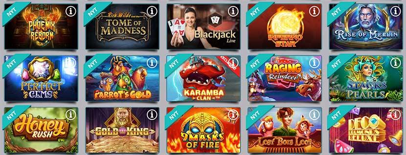God udvalg af spilleautomater hos Karamba casinoet